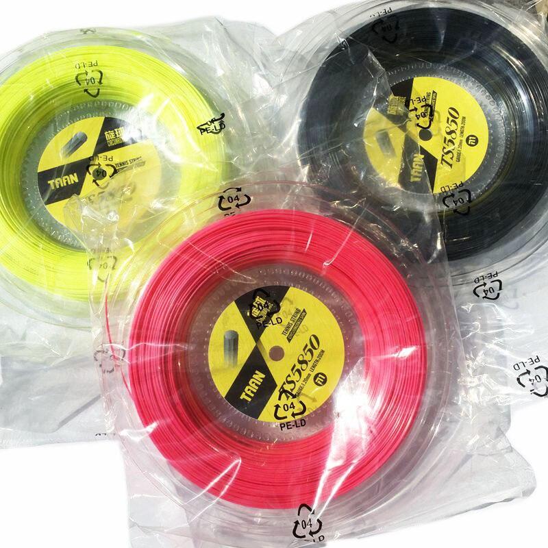 1 bobine TAAN TS5850 cordes de Tennis Spin polyester 10-angle cordes de ligne dure 1.20mm raquette de tennis ficelle 200 M gros banger