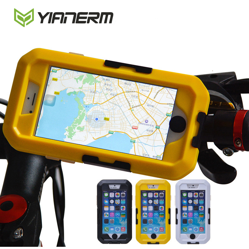 Yianerm Bike Phone Holder Waterproof Phone Case MTB Riding Holder Mobile Phone Bag Bike Mount Stand For iPhone5s 6s 6 plus