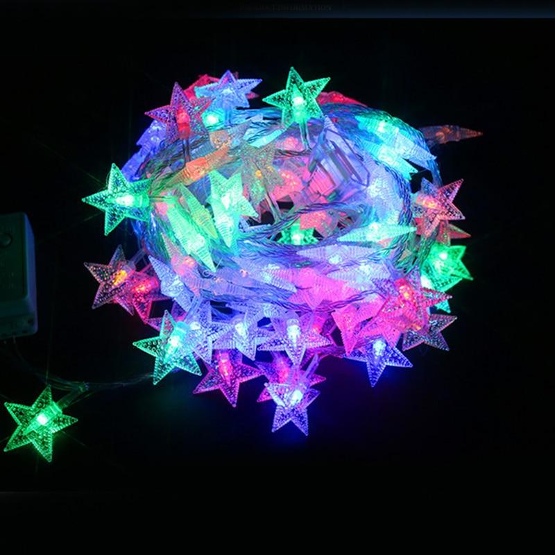 100 LED 10m Christmas LED Star Light Fairy String Light Xmas holiday lighting wedding decoration Family School Party star lights