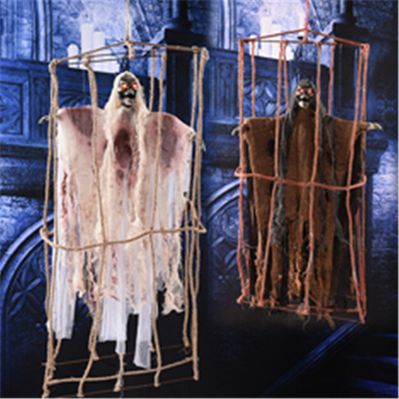 Reaper Ghost Horror Halloween Hanging Ghosts Skull Halloween Decor Bone Head Festival Party Supplies Haunted House Escape