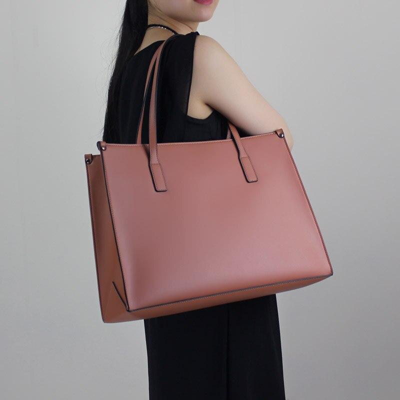 2018 Original handmade Genuine Leather large capacity laptop bag Tote Briefcase package