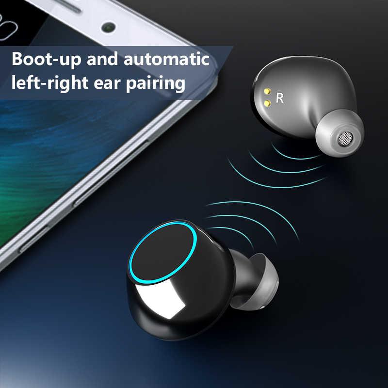 TWS bezprzewodowy zestaw słuchawkowy Bluetooth słuchawki do iPhone'a Samsung inteligentny telefon Mini Bluetooth bezprzewodowe słuchawki douszne S7 Arlado
