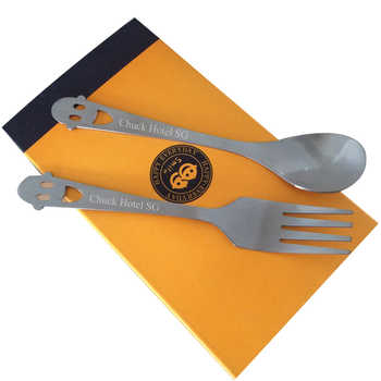 100Box Personalized Wedding Present For Guests,Stainless Steel Spoon And Fork Set Favor,Customized Marriage Party Gift With Box - DISCOUNT ITEM  6% OFF All Category