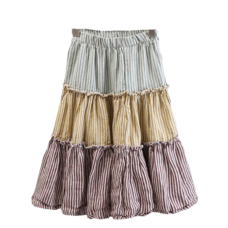 Children's Clothing Girls Fashion Casual Knit Skirt 2018 Autumn Pleated Skirt children Girls High Waist Clothing women fashion dress casual solid color chiffon high waist double chiffon short skirt puff pleated big swing half skirt l05