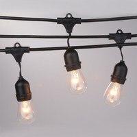 Oferta Reino Unido tipo festón impermeable al aire libre luces de cadena con s14 E27 Edison bombillas