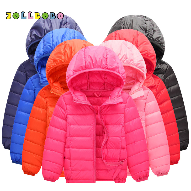 Ultra Light Down Jacket Kids Autumn Winter Solid Color Duck Hooded Down Jacket Packable Childrens Warm Outerwear Coat Girls BoysUltra Light Down Jacket Kids Autumn Winter Solid Color Duck Hooded Down Jacket Packable Childrens Warm Outerwear Coat Girls Boys