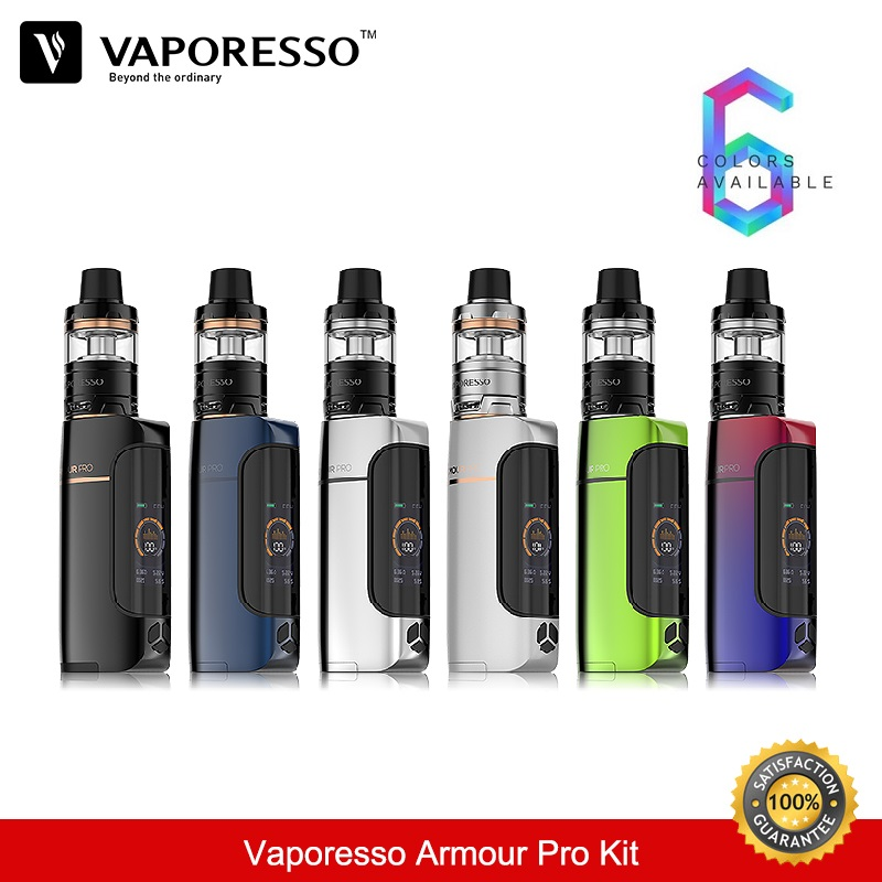 Vaporesso Armour Pro Kit 100W TC Box Mod Vape 5ML with Cascade Baby Tank Vaper Eletronic Hookah Vaporizer E-Cigarettes In Stock