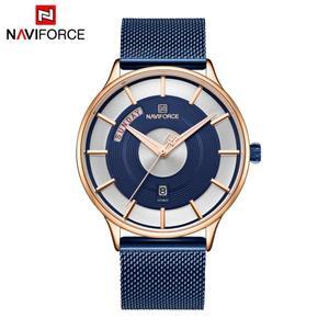 Image 5 - NAVIFORCE Herren Uhren Top Brand Luxus Mode Männer Quarz Armbanduhr Stahl Mesh Armband Sport Uhr Männlich Relogio Masculino 2019
