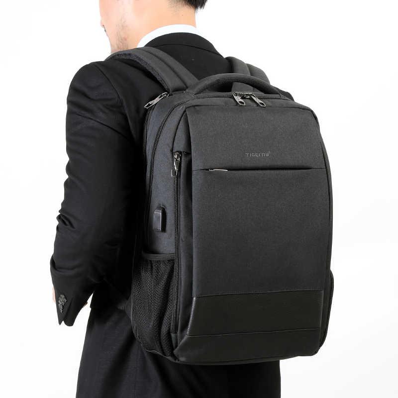 """Tigernu מותג אנטי גניבה USB טעינת 15.6 """"מחשב נייד גברים אופנה נסיעות תרמיל שקית עמיד למים תיק בית ספר פנאי לזכר נקבה"""
