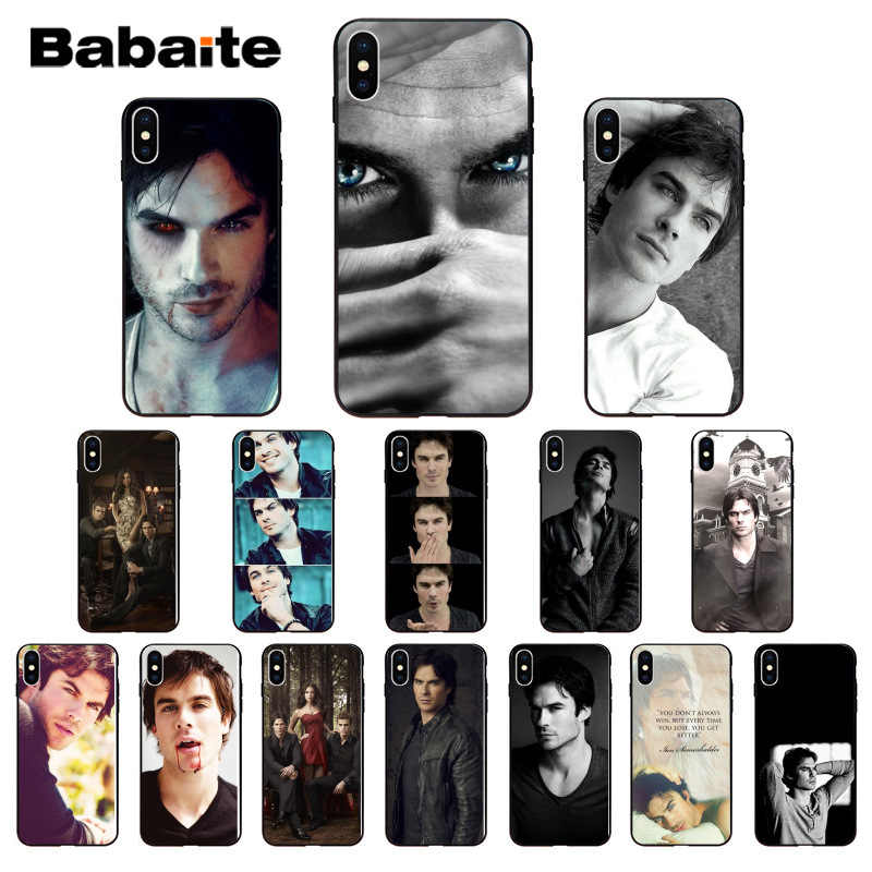 Babaite The Vampire Diaries Ian Somerhalder Silicone Soft TPU Phone Case for iPhone 8 7 6 6S Plus 5 5S SE XR X XS MAX cover