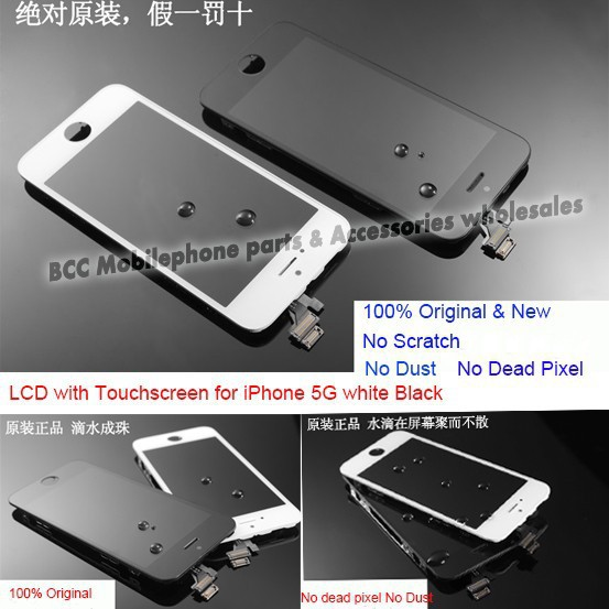 ФОТО In Stock Test 100% Guarantee Original Replacement LCD Display Touch Screen Digitizer Assembly for iPhone 5 5G LCD Screen Panel