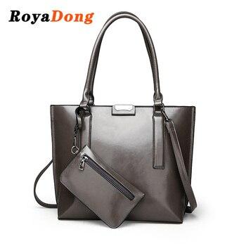 RoyaDong New Big Women Handbags Light Leather Composite Bag Female Shoulder Bag High Quality Dress Bags Luxury Tote Bag Clutches grande bolsas femininas de couro