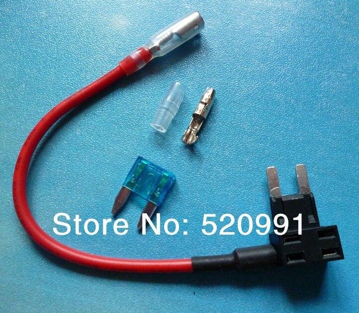 imágenes para 100 unids NUEVA Agregar Un Circuito Fusible Tap Piggy Back MINI Hoja Portafusibles ATM APM 12 v 24 v 12 voltios