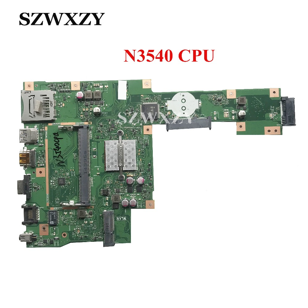 High Quality For ASUS X553MA Laptop Motherboard 60NB04X0 MB1900 With N3540 CPU DDR3 Full Tested Free