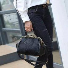Fashion Brand Leather Fur Soft Real Women Handbag Two Pieces Female Shoulder Bag Girls Messenger Casual bag