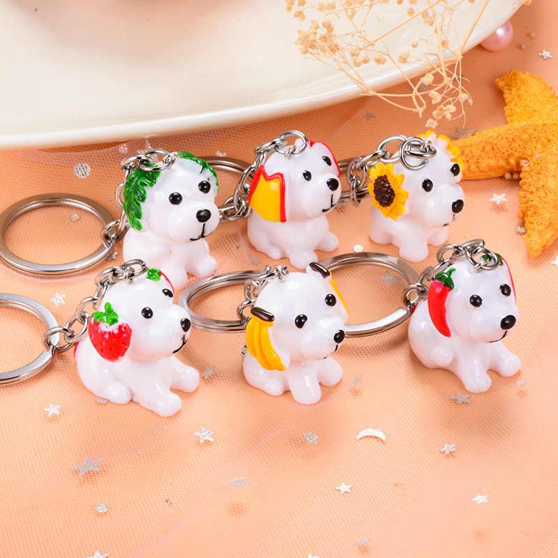 Sitaicery брелок для собак Новый брелок кольцо украшения со стразами в виде животных для женщин девушек любителей автомобиля сумка Рождественский подарок брелок для женщин