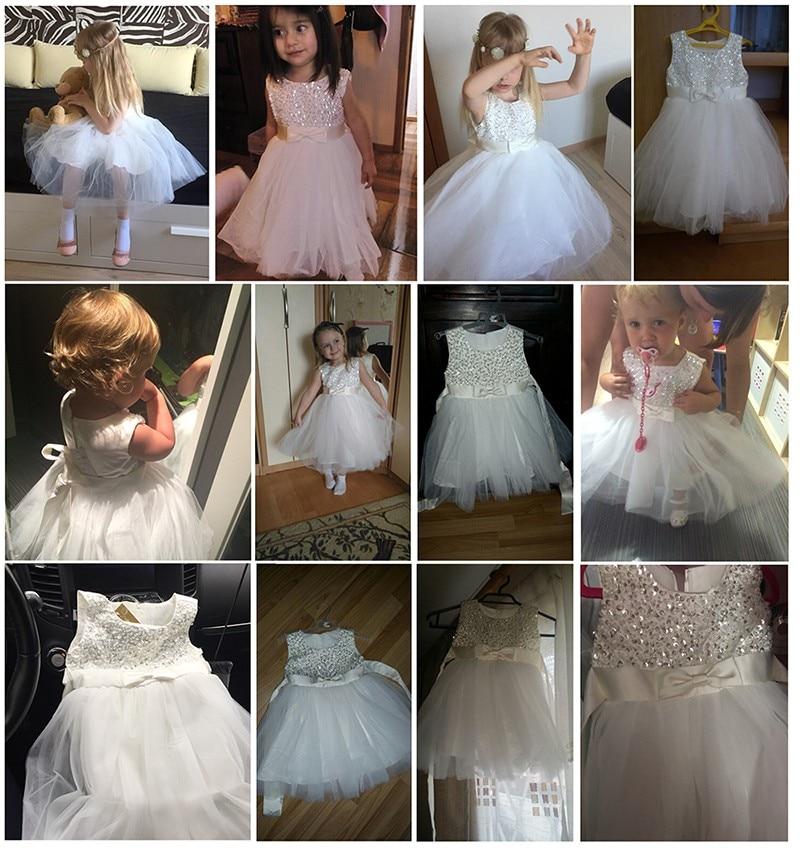White Chiffon Girl Dresses