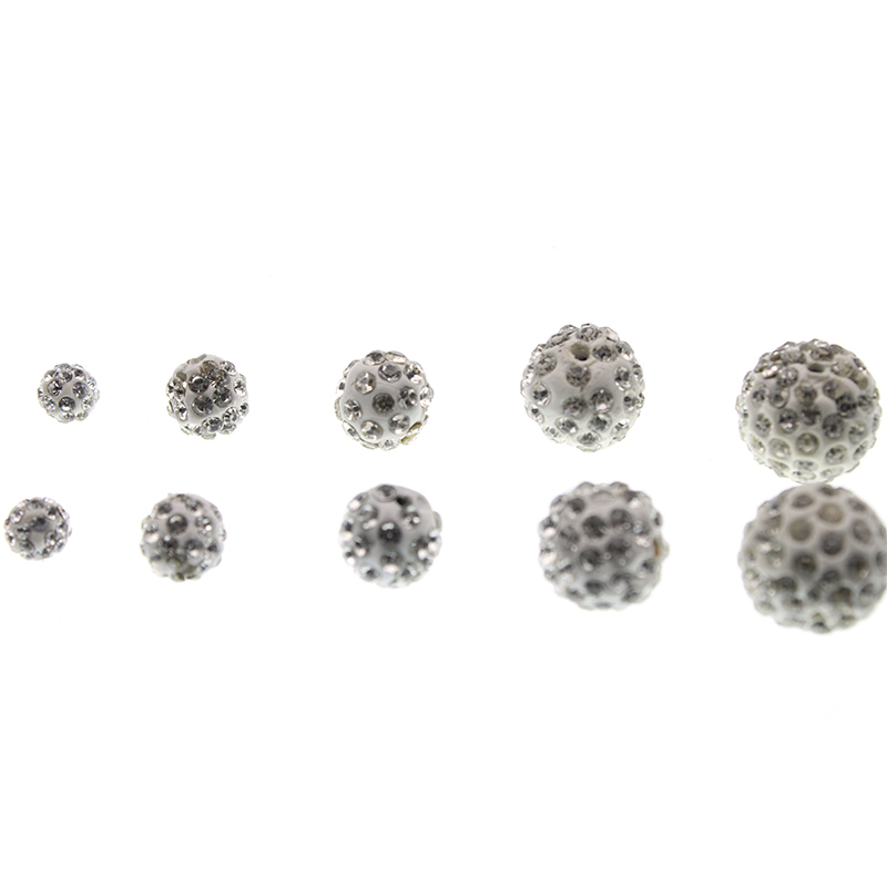 Pack Wide Varieties Beads & Jewelry Making 8mm Blue Zircon Top Quality Czech Crystal Rhinestones Pave Clay Round Disco Ball Spacer Beads For Jewelry 100pcs
