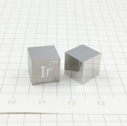 Iridium Metal 10mm Density Cube 99.95% Pure for Element Collection
