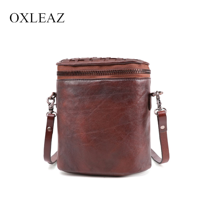 OXLEAZ Women Messenger Bags Small Shoulder Bag Female Bucket Handbag Purse Fashion Genuine Leather Crossbody Bag for LadiesOXLEAZ Women Messenger Bags Small Shoulder Bag Female Bucket Handbag Purse Fashion Genuine Leather Crossbody Bag for Ladies