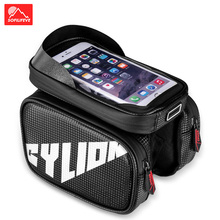 Waterproof Bicycle bag Front Frame Top Tube Bike Bag Phone Case 6.2 MTB Road Pannier Cycling Accessories