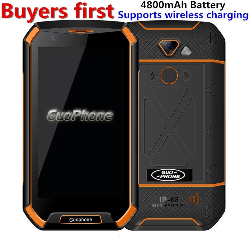 Original GUOPHONE V16 Waterproof Smartphone 5 0 MTK6737 Quad Core RAM 1GB ROM 16GB Fingerprint 4800Ah
