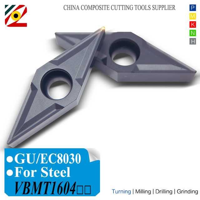 EDGEV 10pcs CNC Draaibank Cutter Carbide Inserts VBMT160404 VBMT160408 VBMT331 VBMT Wolfraam Draaien Gereedschap Staal P type