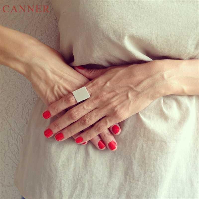 Smooth โลหะแหวนเงิน/ทอง Plain แหวนพังค์ Midi แหวน Knuckle แหวน Rock เครื่องประดับ anillos c40