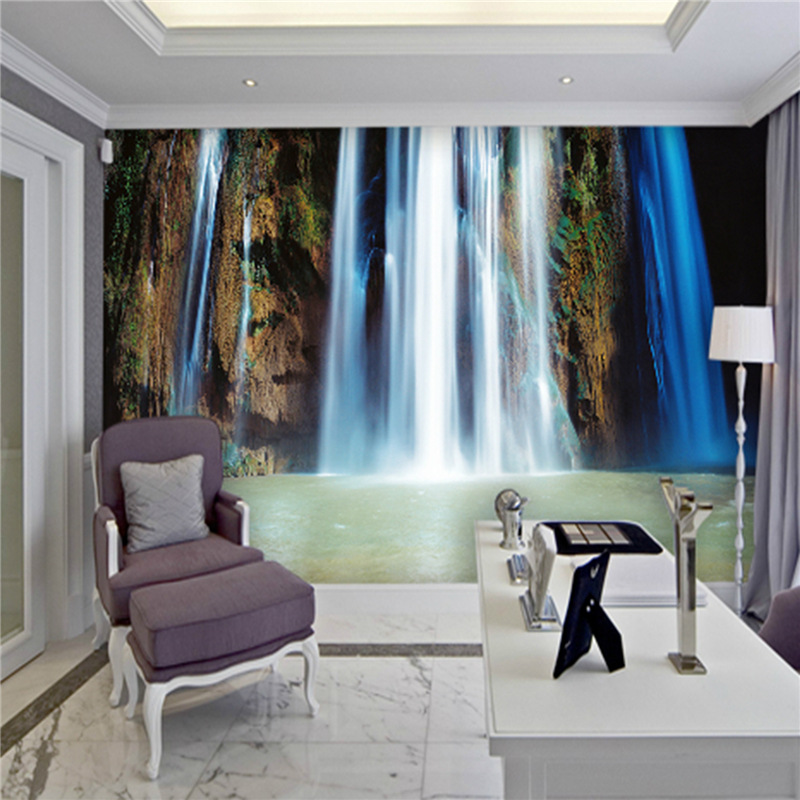 Customized photo HD wallpaper 3d wall murals wallpaper Ink painting landscape Waterfall mural 3d TV background room wall paper book knowledge power channel creative 3d large mural wallpaper 3d bedroom living room tv backdrop painting wallpaper