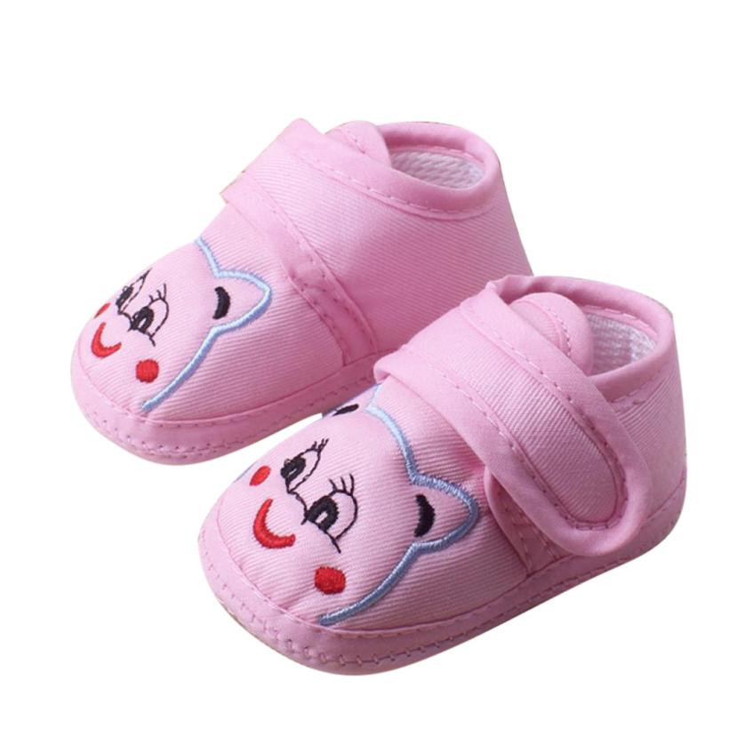 New 2018 Baby Grils Newborn Fashion Cute Cloth Baby Girl Boy Soft Sole Cartoon Anti-slip Shoes Toddler Shoes