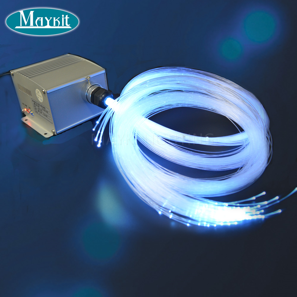 US $265 01 30% OFF|Maykit 300 Strand 10m fiber optic cable 5W LED optical  light illuminator for 10 * 2m ceiling-in Optic Fiber Lights from Lights &
