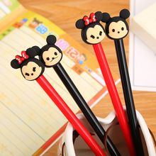 48pcs/lot Cute Cartoon Creative 3D Animal Head Gel Pen Black Water Ink Students Gift Stationery Signing
