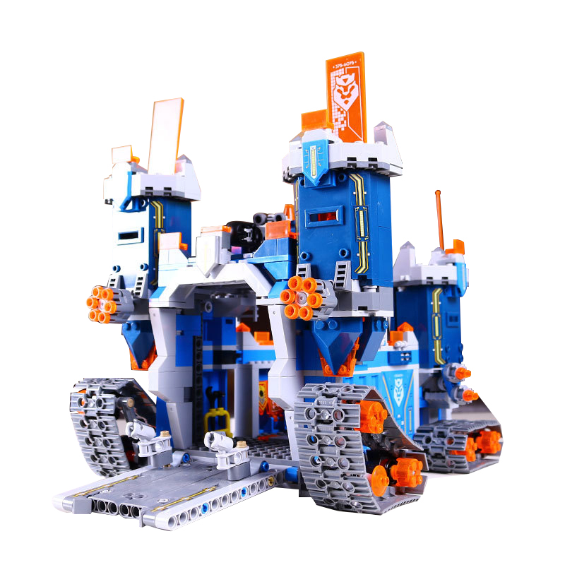 купить Lepin 14006 The Future Elements Knights Mechanical Mobile Fortress Building Block Toys Legoed Block 70317 Toys Children Gifts по цене 3583.94 рублей