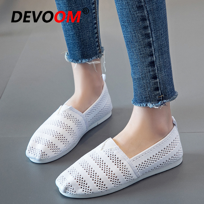 Summer Fashion Lace Shoes Women Breathable Shoes Woman Home Sandals Slip on Hollow out Casual Flats Ladies Footwear 2018 New new women shoes breathable fashion ladies flats non slip summer wedges shoes for women aa10218
