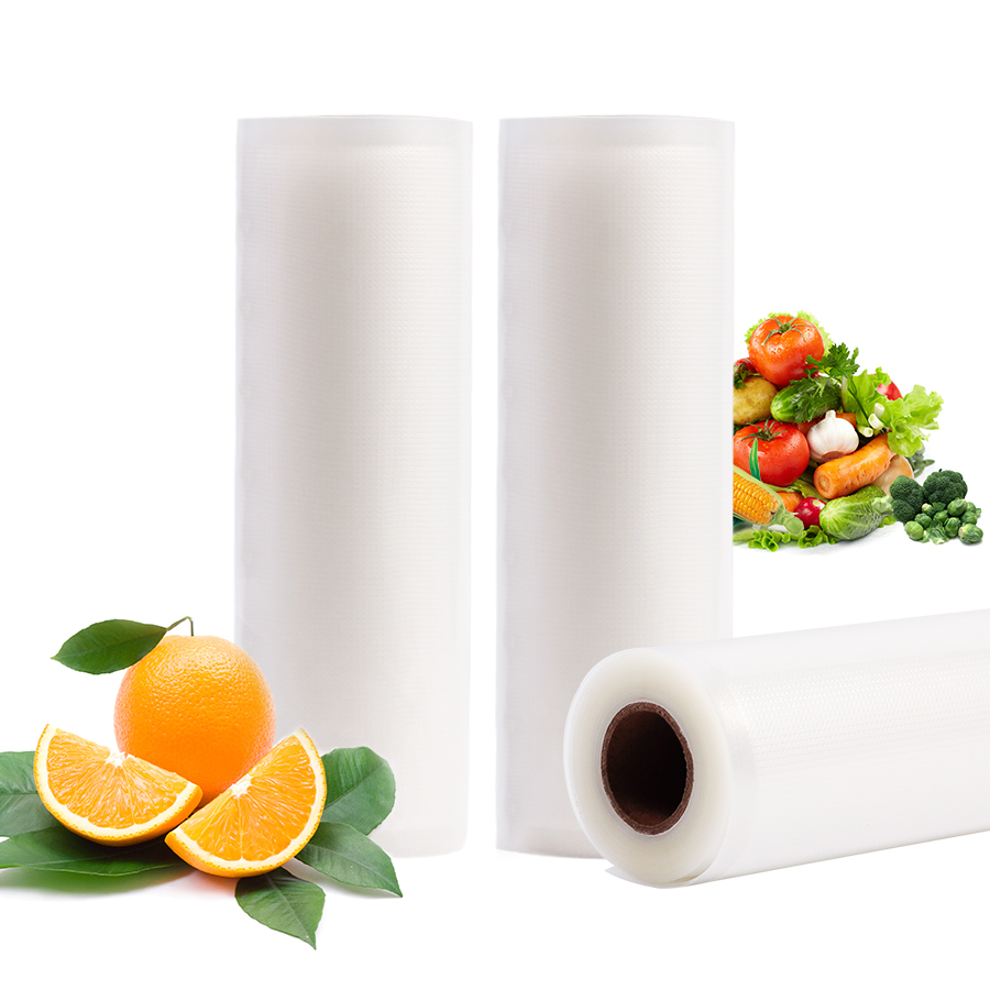 Food Storage Bags 25CMx500CM VACUUM HEAT SEALER FOOD SAVER BAGS Food Storage Bags Saran Wrap Vacuum Food Sealers Bags 10 15cm 100pcs food vacuum bag storage sealer space packing commercial food saver food processor accessories y05 c05