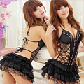 Disfraces sexys para mujer Lencería erótica vestido caliente conjunto ropa interior sin espalda ropa de encaje uniforme de juguetes sexuales + g-string ropa exótica 25