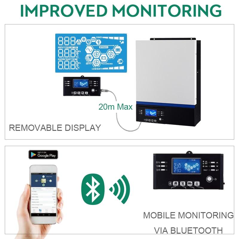 Image 3 - Solar Inverter 500Vdc 5000W 80A MPPT 48V 220V Off Grid Inverter 5Kva Pure Sine Wave Inverter 60A Battery ChargerSolar Inverters   -