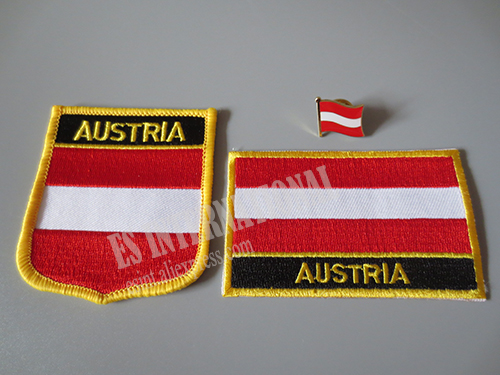US $1 99  National Flag Embroidery Patches and Metal Flag Lapel Pin  AUSTRIA-in Patches from Home & Garden on Aliexpress com   Alibaba Group
