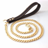 125cm 11 5mm Stainless Steel Dog Leash Handle Slip Lead Collars Outdoor Metal Chain Waterproof Long