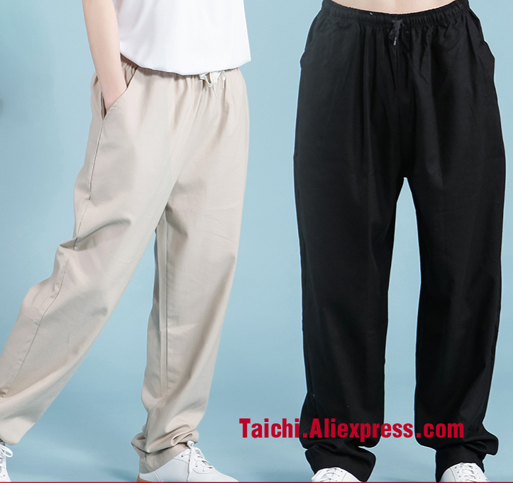 Flax Tai Chi  Kung Fu Martial Art  Yoga Pants With Pocket 7 Colors Free Shipping