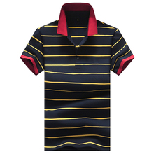 2017 Breathable Striped Men Beach Polo Short Sleeve Summer Cool Man Hipster Tops Mans New Fashion Cotton Soft YN10108