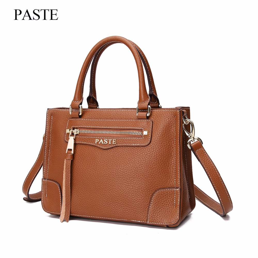 2017 new fashion handbags big bag retro wild shoulder Messenger bag oil wax leather hand care Tote bag Fashion Tassel new C326 qiaobao 100% leather handbags oil wax cowhide ladies shoulder bag fashion 2017 new leather handbags big totes