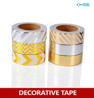 6 Rolls Set Foil Washi Paper Tape Set Gold Silver Metal Colored Hot Stamping Washi Decorative
