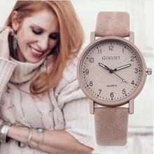 Retro Design Women Watches Leather Band Quartz Wrist Watch T