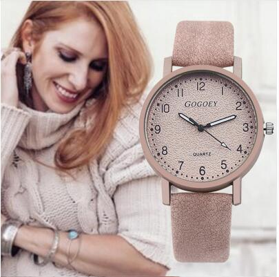 Retro Design Women Watches Leather Band Quartz Wrist Watch Top Brand Luxury Fashion Clock Saat Drop Shipping montre femme
