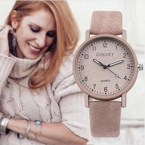 Retro Design Women Watches Leather Band