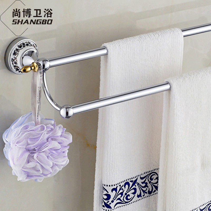 Rustic towel bars promotion shop for promotional rustic for Blue and gold bathroom accessories