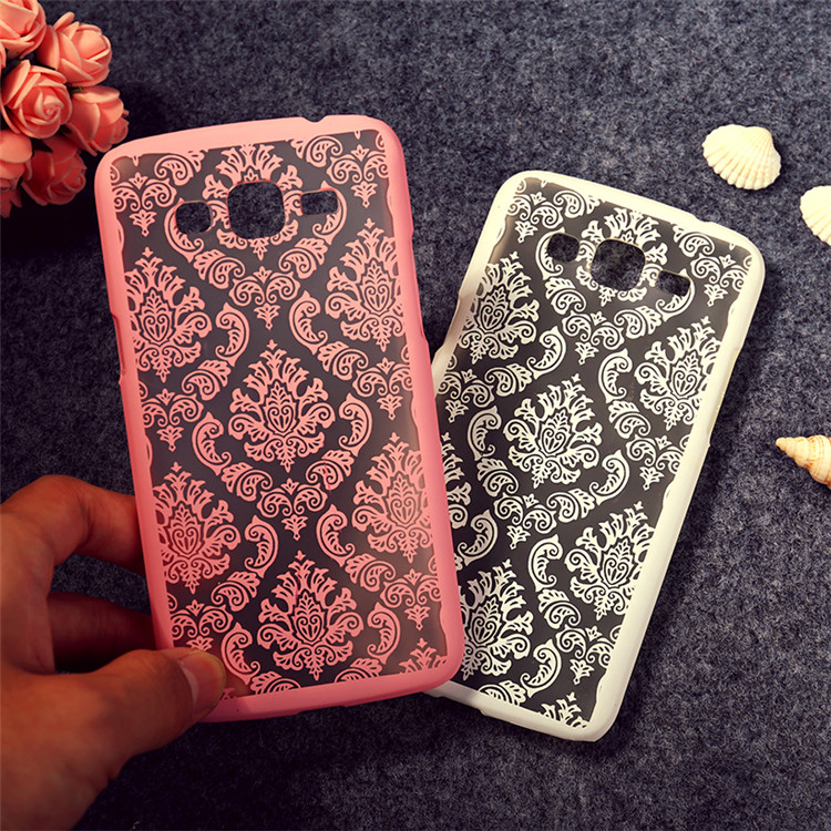 Fashion Beautiful Hollow Out Painted Flower Hard Plastic phone cover Case For Samsung Galaxy Grand 2 Duos G7102 G7106 G7100 T007 image