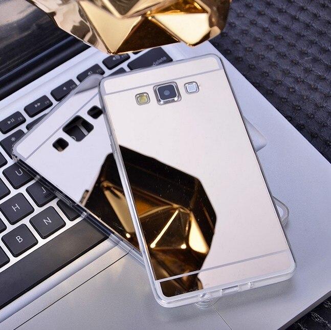 Fundas Дело Капа Para роскоши зеркало Coque ТПУ мобильный телефон сумка задняя крышка для Samsung <font><b>Galaxy</b></font> <font><b>a5</b></font> a500 S5 S6 S7 Деге Примечание 5