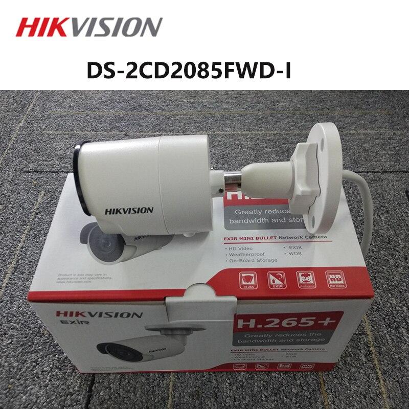 Hikvision version anglaise DS-2CD2085FWD-I H.265 + 8MP caméra réseau CCTV avec fente pour carte SD IP67